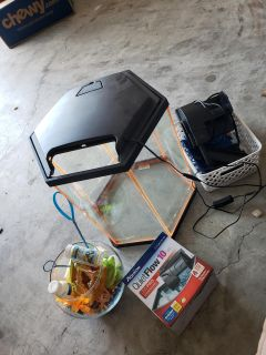 Fish Tank LOT tons of accessories see pics
