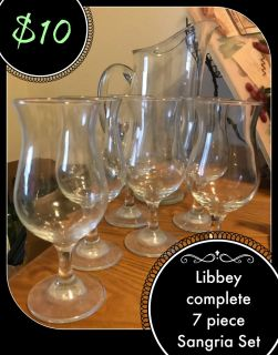 Libbey Glass Sangria Set