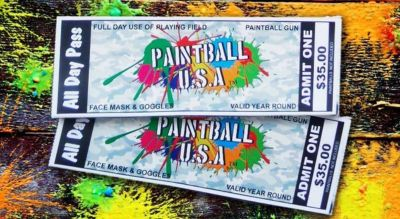 Paintball tickets good at many local areas