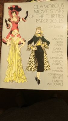 "VINTAGE COLLECTIBLE CUT OUT PAPER DOLL BOOK TOM TIERNEY ""GLAMOROUS MOVIE STARS of the THIRTIES"" 1978 Uncut & Unused VERY GOOD CONDITIO"