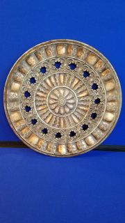 Beautiful Round Flower Wall Decor DISTRESSED LOVELY DECOR EMBOSSED FLORAL DESIGN