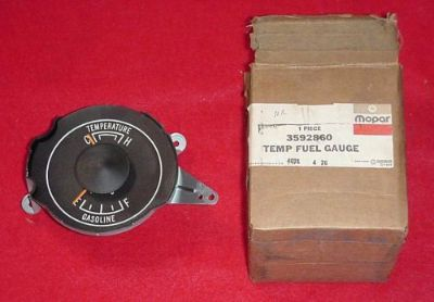 Buy NOS 1975 CHARGER CORDOBA FURY CORONET GAS GASOLINE FUEL TEMPERATURE GAUGE MOPAR motorcycle in Fort Wayne, Indiana, United States, for US $89.95