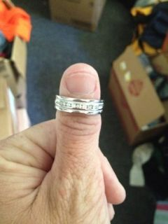 mans white gold band