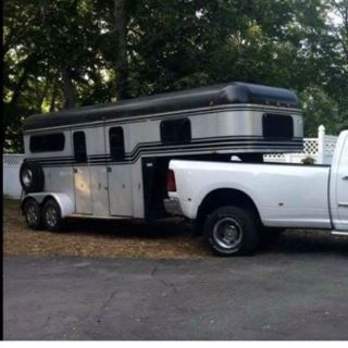 2 horse straight load gooseneck trailer