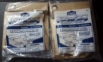 2 Lowe's build and grow sports pinball