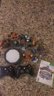 Xbox 360 Skylanders, 2 controllers and an Xbox 360 head set