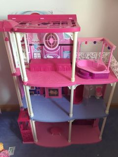 Barbie house with elevator $15