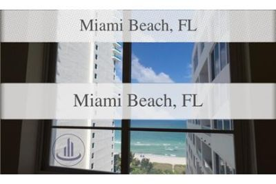 2 bedrooms Apartment - fully furnished 2/2 in the heart of Miami beach.