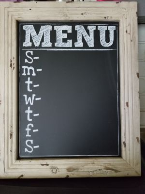 Framed Menu Chalkboard
