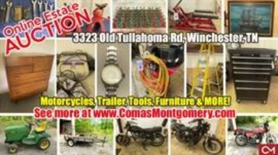 ONLINE ESTATE AUCTION: Motorcycles, Trailer, Tools, Furniture & MORE!