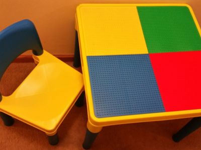 Child's Lego Table and Chair