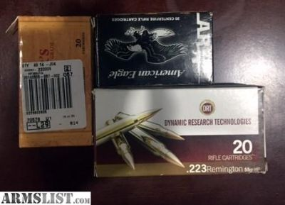For Sale: .223 Ammo, both HP and FMJ (60 Rounds)