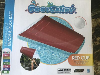 Giant Red Solo cup pool float , new in box.