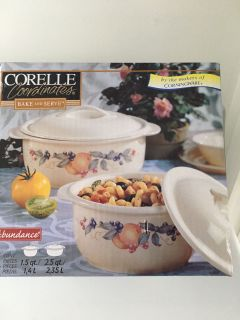 Brand New in Box Corelle Abundance 4 Piece Baking Set (See Other Photo)D