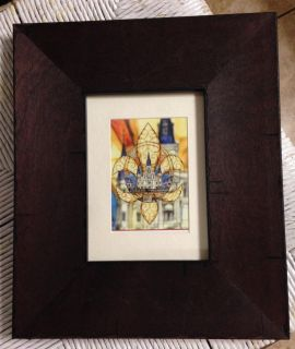 Abstract photo of Jackson Square in gorgeous wooden frame.