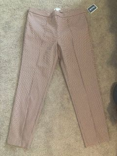 Carolina Belle Size 14 Pull On Dress Ankle Pants NEW