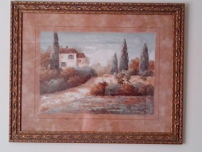 Framed Tuscany Picture
