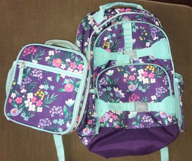 Pottery Barn Large Backpack and Lunch box