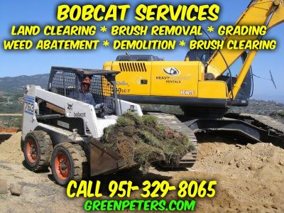 Murrieta Bobcat Grading & Brush Clearing Services - Call Now