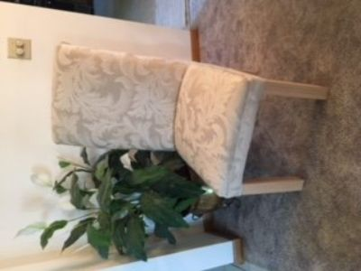 Two Gorgeous Cream Colored Side Chairs