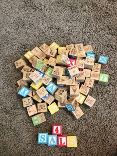 Classic wooden baby blocks