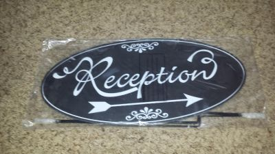 New reception sign with stake