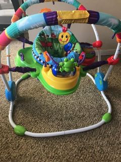 Activity center with bouncer
