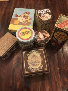 Vintage Collection of Tins