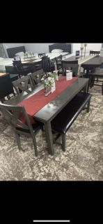 Dark Grey wooden table