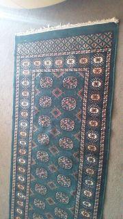 bottle green persian carpet runner