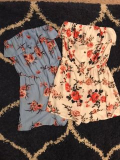 Strapless Rompers, xs