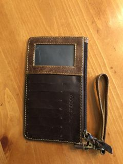 NWOT leathers wristlet. Rep sample. Patchwork design on other side. See additional pic. Ppu