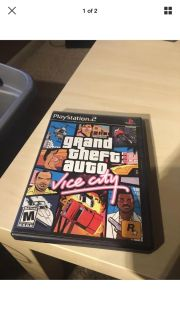 Vintage Grand Theft Auto Vice City PS2 Playstation 2