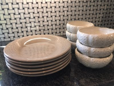 Dishes from Pottery Barn