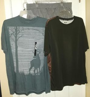 $12 Firm for all 3 Brandnew mens size XXL Tops & Grey shorts -selling as lot only