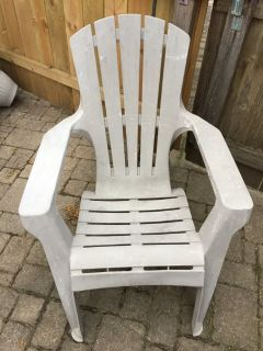 Light Grey Plastic Adirondack Chair