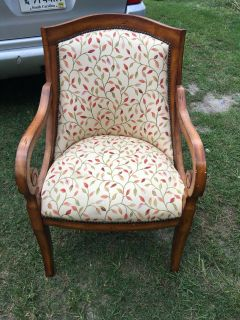 Pair of Custom Upholstery Chairs with Nailhead Trim