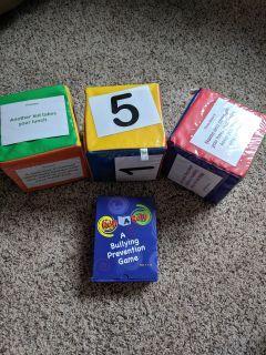 Roll a role bullying prevention game and cubes
