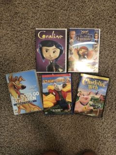 Kid s DVD s 5 total
