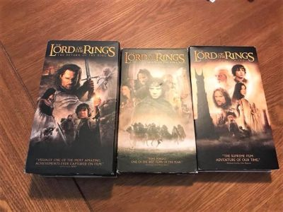 VHS Box Sets Of 3 Different Awesome Movie Trilogies (11 Tapes Total)!!