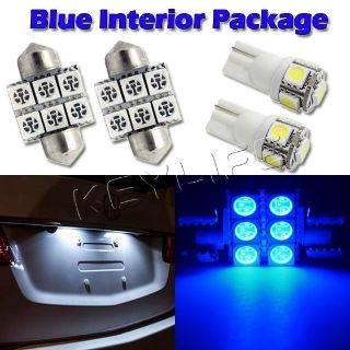 "Buy 6 Blue Led Interior Lights Package For Map T10+ Dome 1.25""+ License Plate Lamp motorcycle in Cupertino, CA, US, for US $14.88"