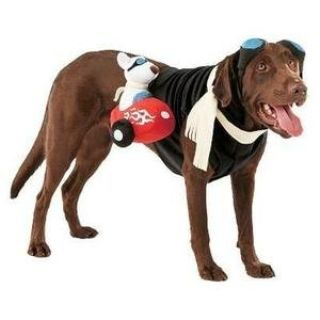 New Dog Sidecar Motorcycle Rider Costume XL