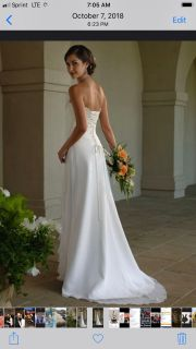 Wedding Dress Size 2