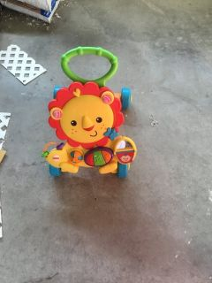Baby walker. Music table