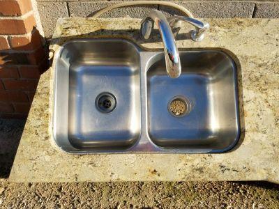Stainless Steel kitchen sink & Kohler faucet