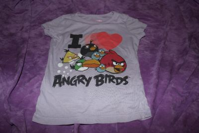 """Colectabilitees """"I Love Angry Birds"""" Short Sleeve Shirt size 5"""