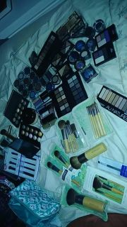 Makeup and brushes
