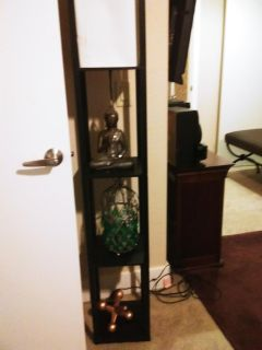 Lamp and shelf combo with home decor