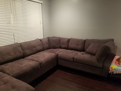 Slate sectional sofa