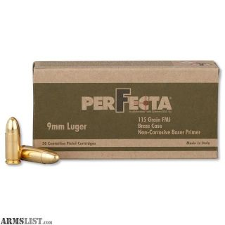 For Sale: Perfecta 9mm Ammo